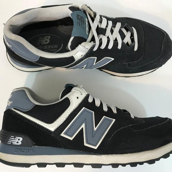 New Balance Men 574 Classic Shoe Size 8 Navy Mint